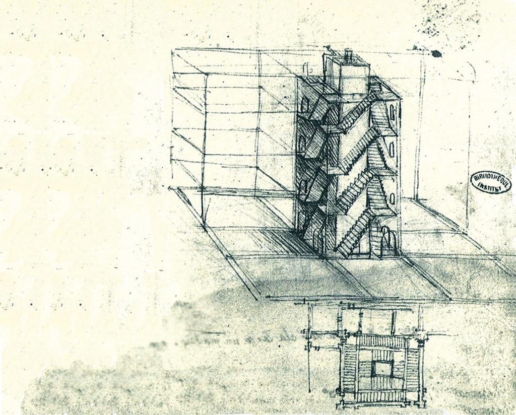 CHAMBORD-VINCI-Escalier-quadruple