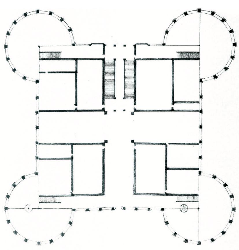 Chambord-Felibien-maquette-plan