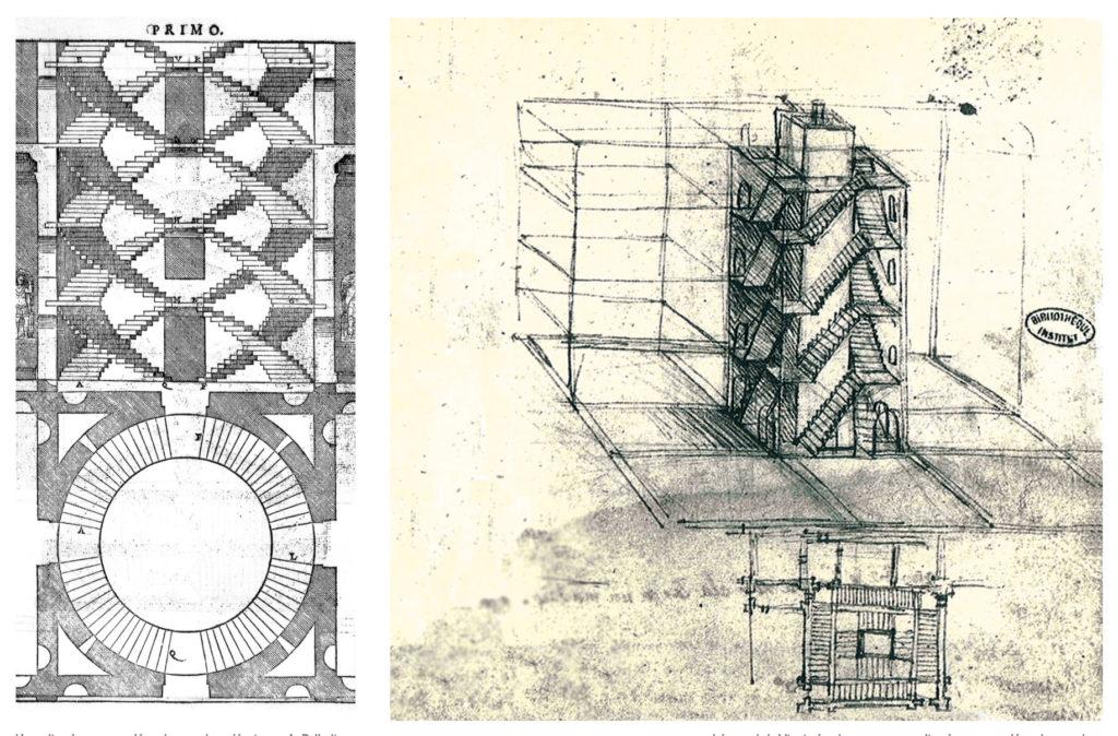 Chambord-Plan-Escalier-Palladio-Vinci