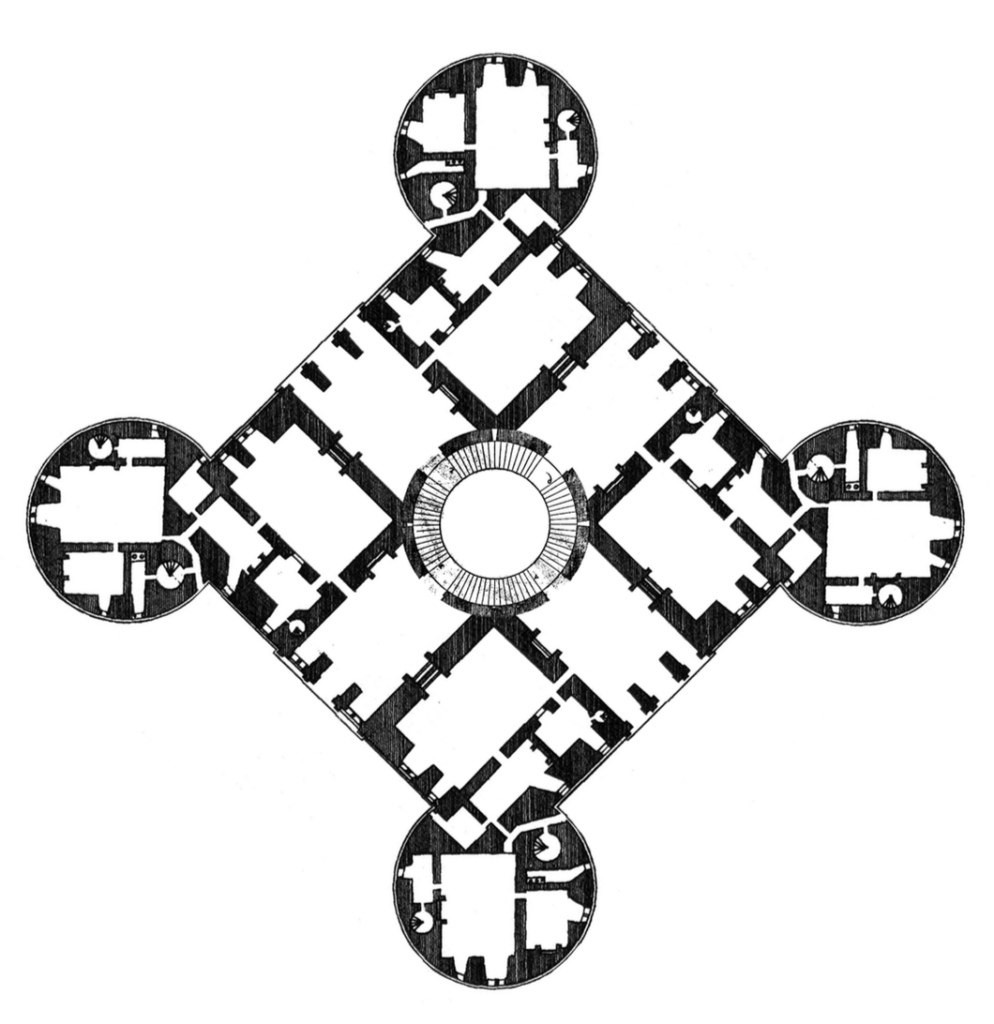 Chambord-Plan-giratoire-Palladio
